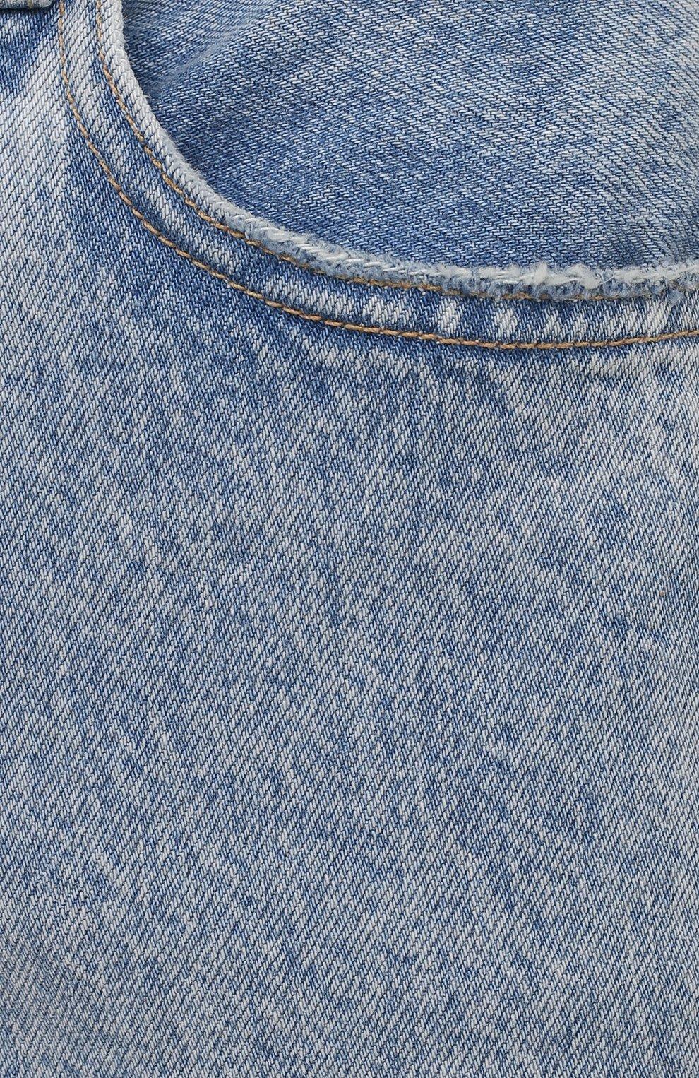 Женские джинсы SLVRLAKE голубого цвета, арт. PF21/LNDJ707S/TMWN | Фото 5 (Кросс-КТ: Деним; Длина (брюки, джинсы): Стандартные; Силуэт Ж (брюки и джинсы): Прямые; Стили: Гранж; Материал внешний: Хлопок; Детали: Потертости)