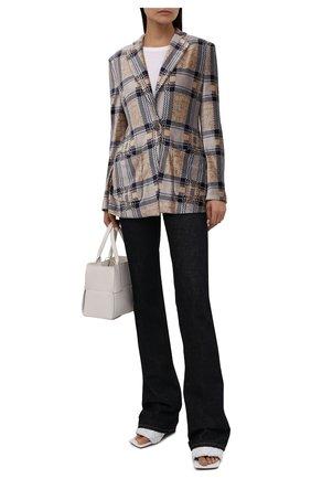 Женский жакет из вискозы GIORGIO ARMANI разноцветного цвета, арт. 6KAG55/AJDDZ | Фото 2 (Материал внешний: Синтетический материал, Вискоза; Материал подклада: Синтетический материал; Рукава: Длинные; Длина (для топов): Стандартные; Женское Кросс-КТ: Жакет-одежда; 1-2-бортные: Однобортные; Стили: Кэжуэл; Случай: Повседневный)