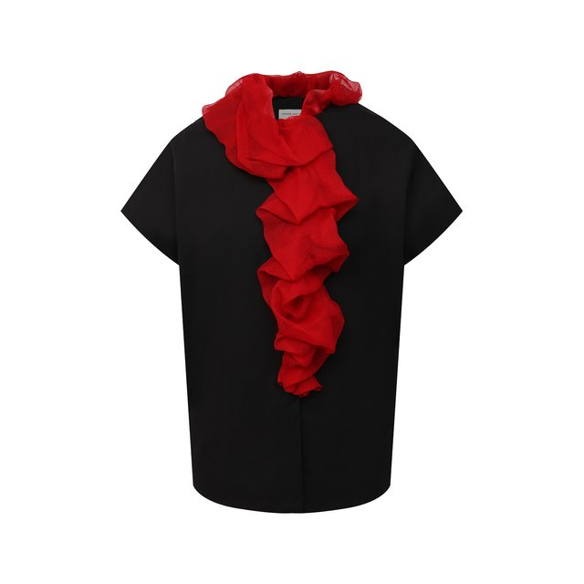 Блузка из хлопка и шелка Dries Van Noten