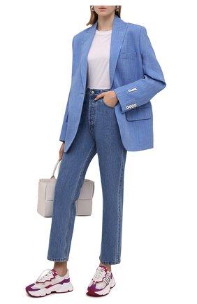 Женские комбинированные кроссовки daymaster DOLCE & GABBANA разноцветного цвета, арт. CK1908/AQ161 | Фото 2 (Материал внутренний: Натуральная кожа; Материал внешний: Текстиль; Подошва: Платформа)