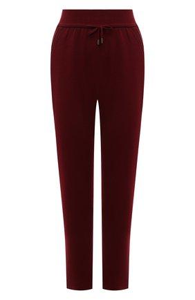 Женские кашемировые брюки LORO PIANA бордового цвета, арт. FAL7042 | Фото 1 (Материал внешний: Кашемир, Шерсть; Женское Кросс-КТ: Брюки-одежда; Силуэт Ж (брюки и джинсы): Прямые; Стили: Спорт-шик; Длина (брюки, джинсы): Стандартные)