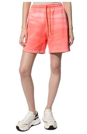 Женские хлопковые шорты ALEXANDER WANG розового цвета, арт. UCC3214017 | Фото 3 (Женское Кросс-КТ: Шорты-одежда; Длина Ж (юбки, платья, шорты): Мини; Материал внешний: Хлопок; Стили: Спорт-шик)