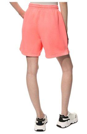 Женские хлопковые шорты ALEXANDER WANG розового цвета, арт. UCC3214017 | Фото 4 (Женское Кросс-КТ: Шорты-одежда; Длина Ж (юбки, платья, шорты): Мини; Материал внешний: Хлопок; Стили: Спорт-шик)