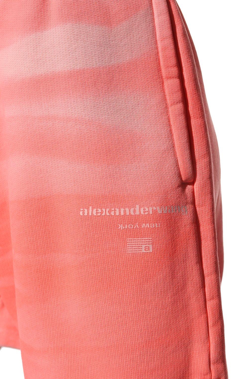 Женские хлопковые шорты ALEXANDER WANG розового цвета, арт. UCC3214017 | Фото 5 (Женское Кросс-КТ: Шорты-одежда; Длина Ж (юбки, платья, шорты): Мини; Материал внешний: Хлопок; Стили: Спорт-шик)