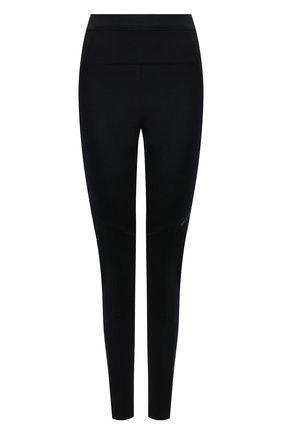 Женские леггинсы MONCLER черного цвета, арт. G2-093-8H000-09-899GK   Фото 1 (Материал внешний: Синтетический материал; Длина (брюки, джинсы): Стандартные; Женское Кросс-КТ: Леггинсы-одежда, Леггинсы-спорт; Стили: Спорт-шик)