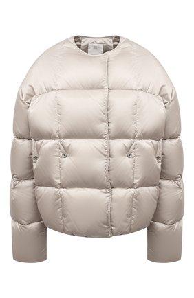 Женская куртка GIVENCHY серого цвета, арт. BW00CT13Q3   Фото 1 (Материал внешний: Синтетический материал; Материал утеплителя: Пух и перо; Рукава: Длинные; Материал подклада: Синтетический материал; Длина (верхняя одежда): Короткие; Кросс-КТ: Куртка; Стили: Спорт-шик)