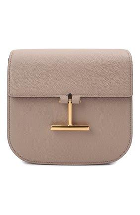 Женская сумка tara mini TOM FORD бежевого цвета, арт. L1502T-LCL208   Фото 1 (Материал: Натуральная кожа; Сумки-технические: Сумки через плечо; Ремень/цепочка: На ремешке; Размер: mini)