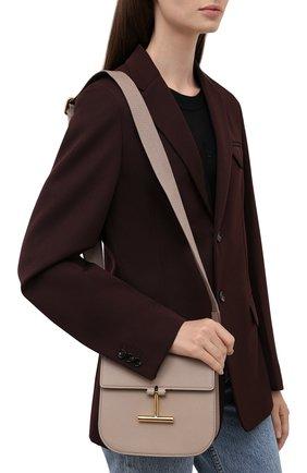 Женская сумка tara mini TOM FORD бежевого цвета, арт. L1502T-LCL208   Фото 2 (Материал: Натуральная кожа; Сумки-технические: Сумки через плечо; Ремень/цепочка: На ремешке; Размер: mini)