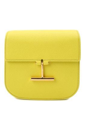 Женская сумка tara mini TOM FORD желтого цвета, арт. L1502T-LCL208   Фото 1 (Материал: Натуральная кожа; Сумки-технические: Сумки через плечо; Ремень/цепочка: На ремешке; Размер: mini)