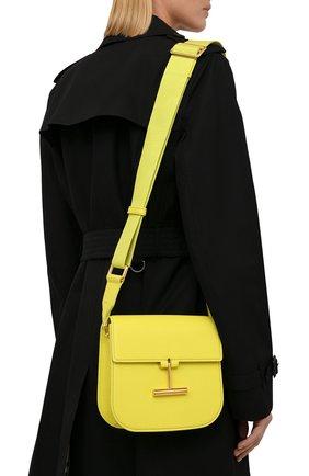 Женская сумка tara mini TOM FORD желтого цвета, арт. L1502T-LCL208   Фото 2 (Материал: Натуральная кожа; Сумки-технические: Сумки через плечо; Ремень/цепочка: На ремешке; Размер: mini)