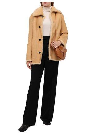 Женская дубленка JIL SANDER бежевого цвета, арт. JSPT654170-WTL08010 | Фото 2 (Материал внешний: Натуральный мех; Стили: Кэжуэл; Рукава: Длинные; Длина (верхняя одежда): До середины бедра, Короткие; Женское Кросс-КТ: Мех)
