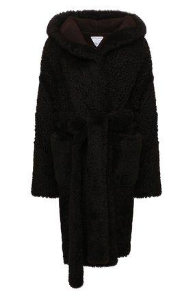 Женская шуба из овчины BOTTEGA VENETA коричневого цвета, арт. 669568/VKV70   Фото 1 (Рукава: Длинные; Длина (верхняя одежда): До колена; Материал внешний: Натуральный мех; Женское Кросс-КТ: Мех; Стили: Кэжуэл)