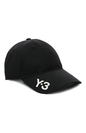 Мужской бейсболка Y-3 черного цвета, арт. H54044/M | Фото 1 (Материал: Синтетический материал, Текстиль)