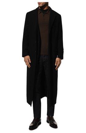 Мужские кожаные ботинки BARRETT темно-коричневого цвета, арт. 212U028.2/BETIS CREAM | Фото 2 (Материал утеплителя: Натуральный мех; Подошва: Плоская; Мужское Кросс-КТ: Ботинки-обувь)