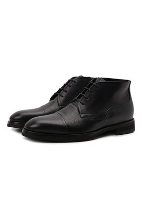 Мужские кожаные ботинки BARRETT темно-синего цвета, арт. 212U028.3/BETIS CREAM | Фото 1 (Подошва: Плоская; Материал внутренний: Натуральная кожа; Мужское Кросс-КТ: Ботинки-обувь)