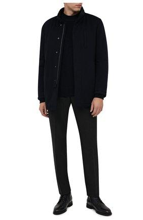 Мужские кожаные ботинки BARRETT темно-синего цвета, арт. 212U028.3/BETIS CREAM | Фото 2 (Подошва: Плоская; Материал внутренний: Натуральная кожа; Мужское Кросс-КТ: Ботинки-обувь)