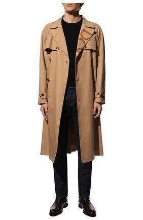 Мужские кожаные сапоги BARRETT темно-коричневого цвета, арт. 212U029.2/BETIS CREAM | Фото 2 (Подошва: Плоская; Материал утеплителя: Натуральный мех; Мужское Кросс-КТ: Сапоги-обувь)