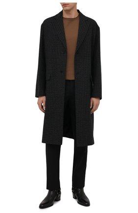 Мужские шерстяные брюки MAISON MARGIELA черного цвета, арт. S50KA0530/S44330 | Фото 2 (Длина (брюки, джинсы): Стандартные; Материал внешний: Шерсть; Случай: Повседневный; Стили: Минимализм)