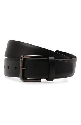 Мужской кожаный ремень DOLCE & GABBANA черного цвета, арт. BC4595/AX622 | Фото 1 (Случай: Повседневный)