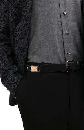 Мужской кожаный ремень DOLCE & GABBANA черного цвета, арт. BC4595/AX622 | Фото 2 (Случай: Повседневный)