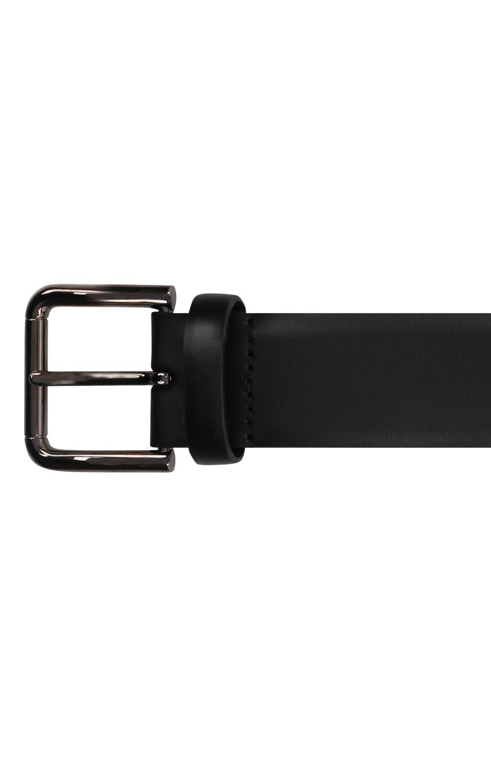 Мужской кожаный ремень DOLCE & GABBANA черного цвета, арт. BC4595/AX622   Фото 4 (Случай: Повседневный)