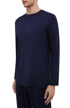 Мужская пижама ZIMMERLI темно-синего цвета, арт. 718-96054 | Фото 2 (Материал внешний: Синтетический материал; Кросс-КТ: домашняя одежда; Длина (для топов): Стандартные; Длина (брюки, джинсы): Стандартные; Рукава: Длинные)