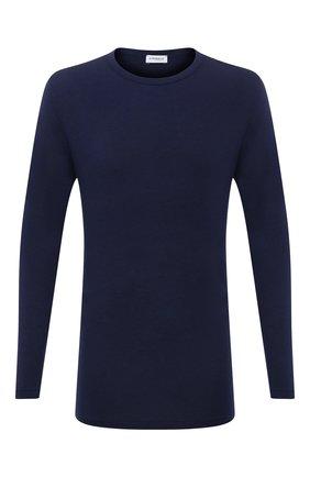 Мужская лонгслив ZIMMERLI темно-синего цвета, арт. 718-8252 | Фото 1 (Материал внешний: Синтетический материал; Кросс-КТ: домашняя одежда; Длина (для топов): Стандартные; Рукава: Длинные)