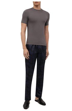 Мужские хлопковые домашние брюки ZIMMERLI темно-синего цвета, арт. 4737-75180 | Фото 2 (Длина (брюки, джинсы): Стандартные; Материал внешний: Хлопок; Кросс-КТ: домашняя одежда)