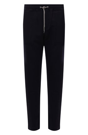Мужские брюки ZIMMERLI темно-синего цвета, арт. 1343-21903 | Фото 1 (Длина (брюки, джинсы): Стандартные; Материал внешний: Синтетический материал; Кросс-КТ: домашняя одежда)