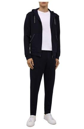 Мужские брюки ZIMMERLI темно-синего цвета, арт. 1343-21903 | Фото 2 (Длина (брюки, джинсы): Стандартные; Материал внешний: Синтетический материал; Кросс-КТ: домашняя одежда)