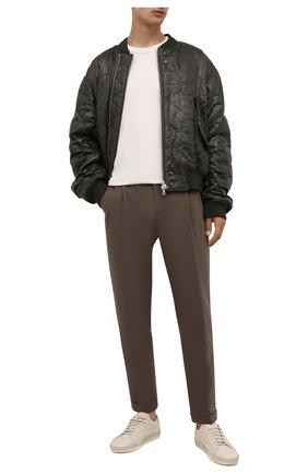 Мужские хлопковые брюки LORO PIANA темно-бежевого цвета, арт. FAL8006 | Фото 2 (Материал внешний: Хлопок; Длина (брюки, джинсы): Стандартные; Случай: Повседневный; Стили: Кэжуэл)
