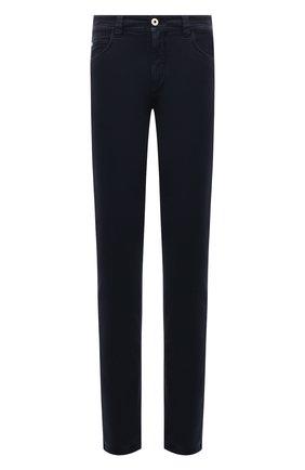 Мужские джинсы LORO PIANA темно-синего цвета, арт. FAG4511 | Фото 1 (Материал подклада: Хлопок; Материал внешний: Хлопок; Кросс-КТ: Деним; Силуэт М (брюки): Прямые; Стили: Кэжуэл; Длина (брюки, джинсы): Стандартные)