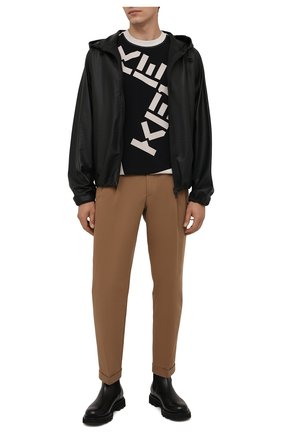 Мужская хлопковая футболка kenzo sport KENZO кремвого цвета, арт. FB65TS0314SK   Фото 2 (Длина (для топов): Стандартные; Материал внешний: Хлопок; Рукава: Короткие; Принт: С принтом; Стили: Спорт-шик)