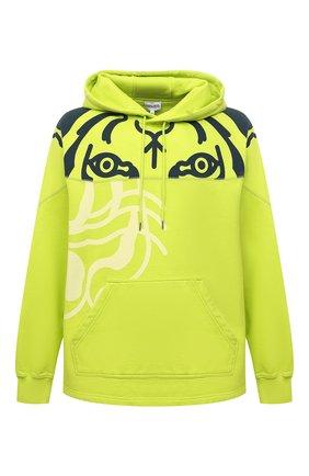 Мужской хлопковое худи kenzo x wwf KENZO светло-зеленого цвета, арт. FB65SW5384M0   Фото 1 (Материал внешний: Хлопок; Длина (для топов): Стандартные; Рукава: Длинные; Мужское Кросс-КТ: Худи-одежда; Принт: С принтом; Стили: Спорт-шик)