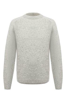 Мужской свитер из шерсти и кашемира KENZO светло-серого цвета, арт. FB65PU6023AA | Фото 1 (Длина (для топов): Стандартные; Рукава: Длинные; Материал внешний: Шерсть; Мужское Кросс-КТ: Свитер-одежда; Принт: Без принта; Стили: Кэжуэл)