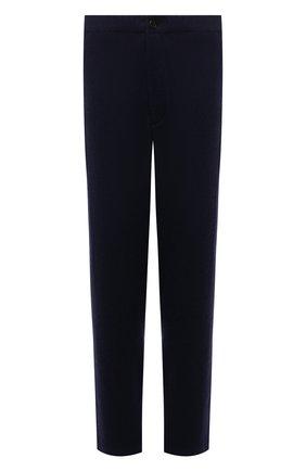 Мужские шерстяные брюки KENZO темно-синего цвета, арт. FB65PA5001RB   Фото 1 (Длина (брюки, джинсы): Стандартные; Материал внешний: Шерсть; Материал подклада: Синтетический материал; Случай: Повседневный; Стили: Кэжуэл)