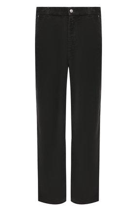 Мужские хлопковые брюки KENZO серого цвета, арт. FB65PA3609CV | Фото 1 (Материал внешний: Хлопок; Длина (брюки, джинсы): Стандартные; Случай: Повседневный; Стили: Кэжуэл)