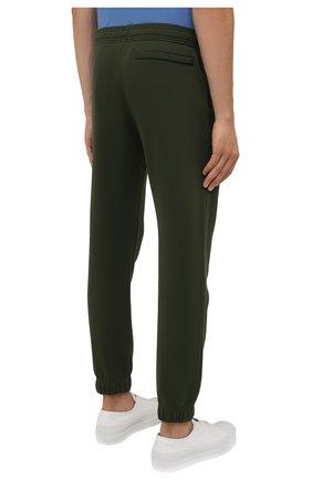 Мужские хлопковые джоггеры KENZO хаки цвета, арт. FB55PA7114ML | Фото 4 (Мужское Кросс-КТ: Брюки-трикотаж; Длина (брюки, джинсы): Стандартные; Материал внешний: Хлопок; Стили: Спорт-шик; Силуэт М (брюки): Джоггеры)