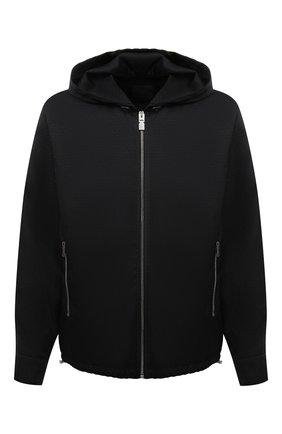 Мужская куртка GIVENCHY черного цвета, арт. BM00RP13P9 | Фото 1 (Длина (верхняя одежда): Короткие; Рукава: Длинные; Материал внешний: Синтетический материал; Материал подклада: Синтетический материал; Кросс-КТ: Куртка, Ветровка; Стили: Кэжуэл)