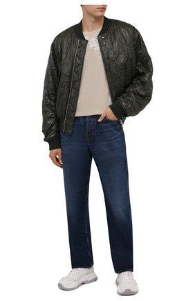 Мужская хлопковая футболка GIVENCHY светло-бежевого цвета, арт. BM715A3Y6B | Фото 2 (Материал внешний: Хлопок; Длина (для топов): Стандартные; Рукава: Короткие; Принт: С принтом; Стили: Кэжуэл)