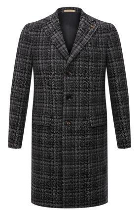 Мужской пальто из шерсти и кашемира SARTORIA LATORRE серого цвета, арт. A0STA QA1247 | Фото 1 (Материал внешний: Шерсть; Длина (верхняя одежда): До середины бедра; Материал подклада: Купро; Рукава: Длинные; Мужское Кросс-КТ: пальто-верхняя одежда; Стили: Кэжуэл)