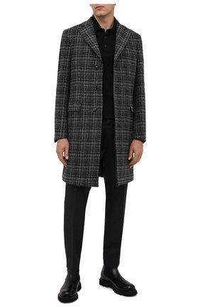 Мужской пальто из шерсти и кашемира SARTORIA LATORRE серого цвета, арт. A0STA QA1247 | Фото 2 (Материал внешний: Шерсть; Длина (верхняя одежда): До середины бедра; Материал подклада: Купро; Рукава: Длинные; Мужское Кросс-КТ: пальто-верхняя одежда; Стили: Кэжуэл)