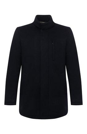 Мужская шерстяная куртка SARTORIA LATORRE темно-синего цвета, арт. CTS006 SP9002 | Фото 1 (Материал подклада: Синтетический материал; Рукава: Длинные; Материал внешний: Шерсть; Длина (верхняя одежда): Короткие; Кросс-КТ: Куртка; Мужское Кросс-КТ: шерсть и кашемир; Стили: Кэжуэл)