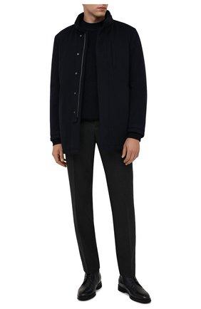Мужская шерстяная куртка SARTORIA LATORRE темно-синего цвета, арт. CTS006 SP9002 | Фото 2 (Материал подклада: Синтетический материал; Рукава: Длинные; Материал внешний: Шерсть; Длина (верхняя одежда): Короткие; Кросс-КТ: Куртка; Мужское Кросс-КТ: шерсть и кашемир; Стили: Кэжуэл)