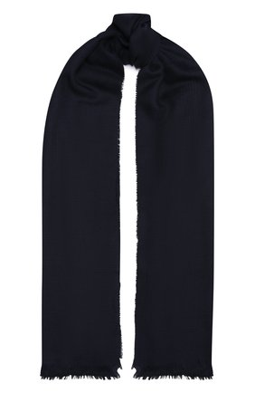 Мужской шерстяной шарф TOM FORD темно-синего цвета, арт. 2TF137/2BL | Фото 1 (Материал: Шерсть; Кросс-КТ: шерсть)