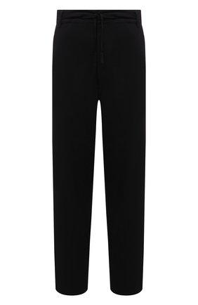 Мужские брюки STONE ISLAND черного цвета, арт. 751930204 | Фото 1 (Длина (брюки, джинсы): Стандартные; Материал внешний: Синтетический материал; Случай: Повседневный; Стили: Кэжуэл)