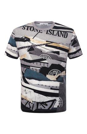 Мужская хлопковая футболка STONE ISLAND разноцветного цвета, арт. 75152NS88   Фото 1 (Материал внешний: Хлопок; Длина (для топов): Стандартные; Рукава: Короткие; Принт: С принтом; Стили: Кэжуэл)