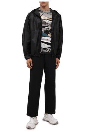 Мужская хлопковая футболка STONE ISLAND разноцветного цвета, арт. 75152NS88   Фото 2 (Материал внешний: Хлопок; Длина (для топов): Стандартные; Рукава: Короткие; Принт: С принтом; Стили: Кэжуэл)