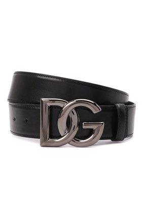 Мужской кожаный ремень DOLCE & GABBANA черного цвета, арт. BC4630/A0776 | Фото 1 (Случай: Повседневный)