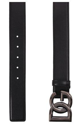 Мужской кожаный ремень DOLCE & GABBANA черного цвета, арт. BC4630/A0776   Фото 3 (Случай: Повседневный)